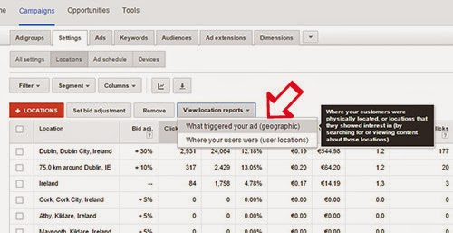 Google AdWords: Location Reports