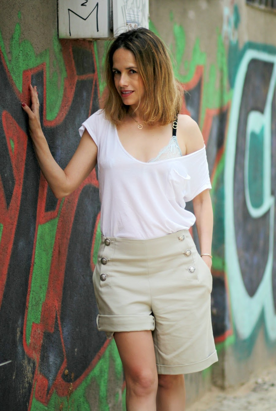 stellaMcCartney, ss15, ootd, widelegbuttonspants, fashionblog, fashion, אופנה, בלוגאופנה