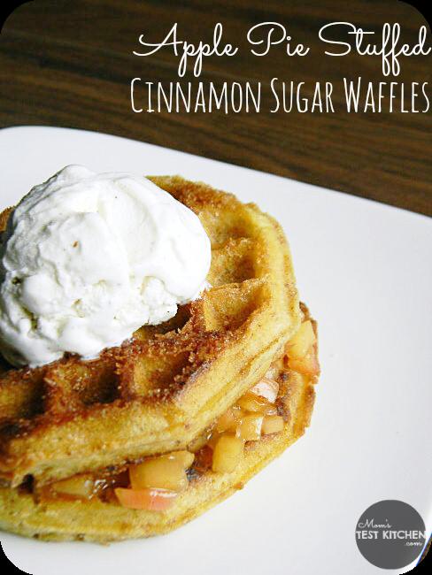 Apple Pie Stuffed Cinnamon Sugar Waffles | www.momstestkitchen.com | # ...