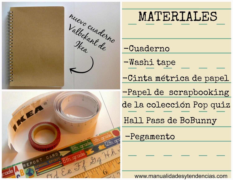 Materiales para decorar los cuadernos para la vuelta al cole