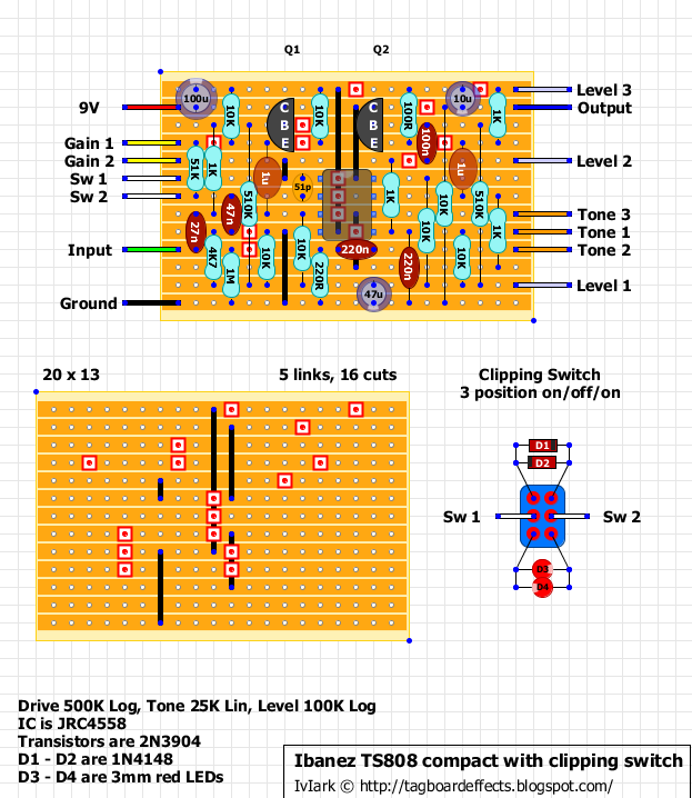 fuzz face schematic html with Ibanez Tube Screamer Ts808  Pact Mini on Pedal Wiring Diagram as well Ecc83 Tube Schematic together with Ibanez Tube Screamer Ts808  pact Mini in addition Fulltone 69 together with Dc Jack Wiring.