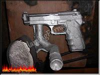 solid aluminum pistol casting replica
