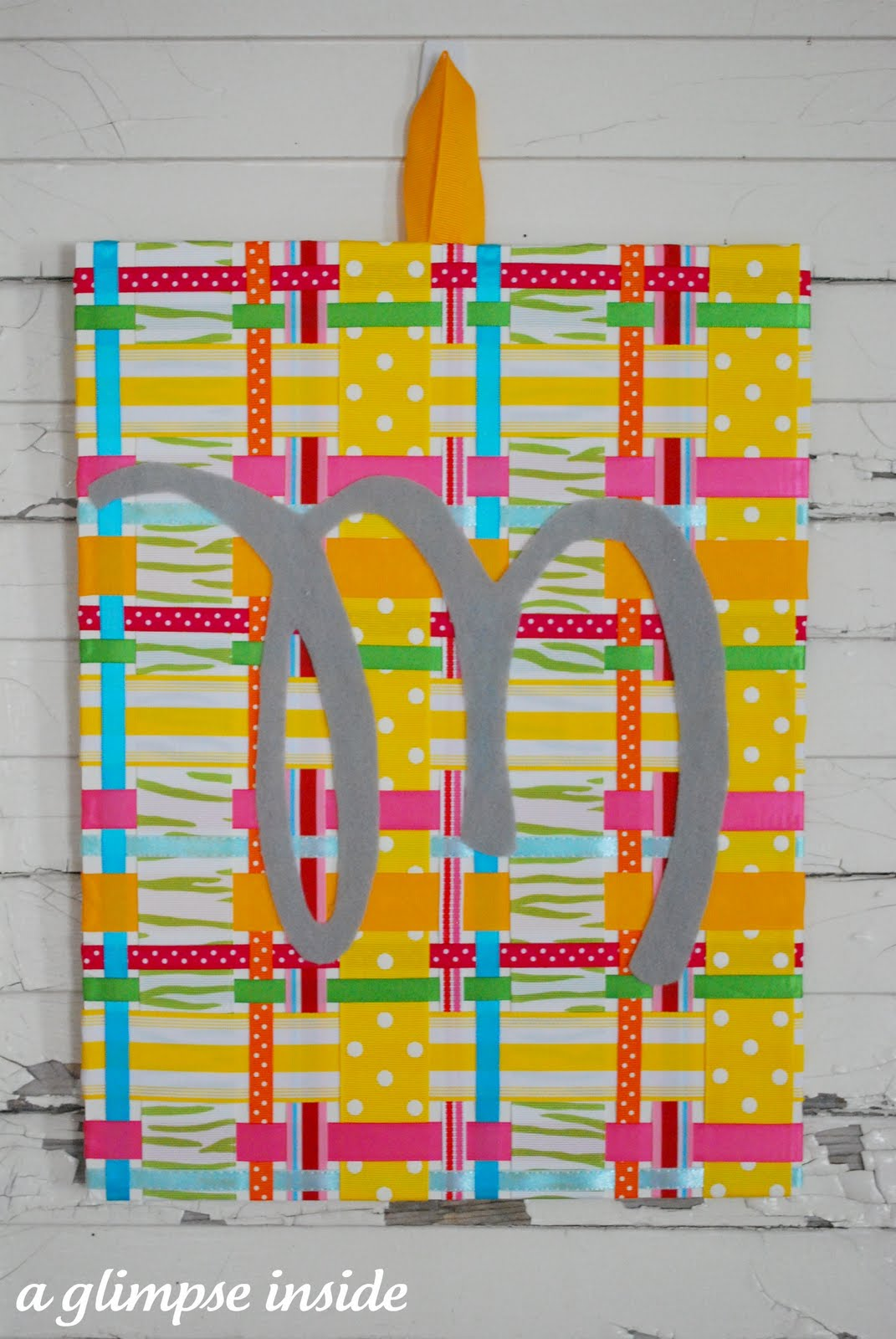 Spring Plaid Ribbon Art