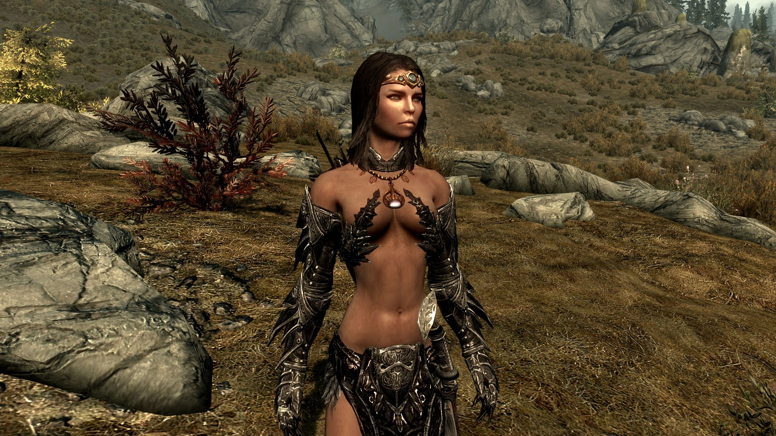 Daedric female armor replacer by MaikCG