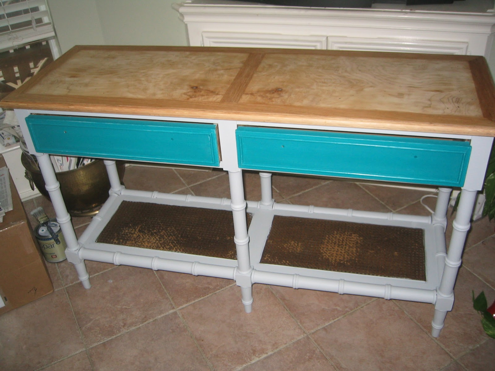 Just judy sofa table makeover for Sofa table makeover