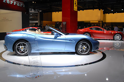 Blue Ferrari California Pictures