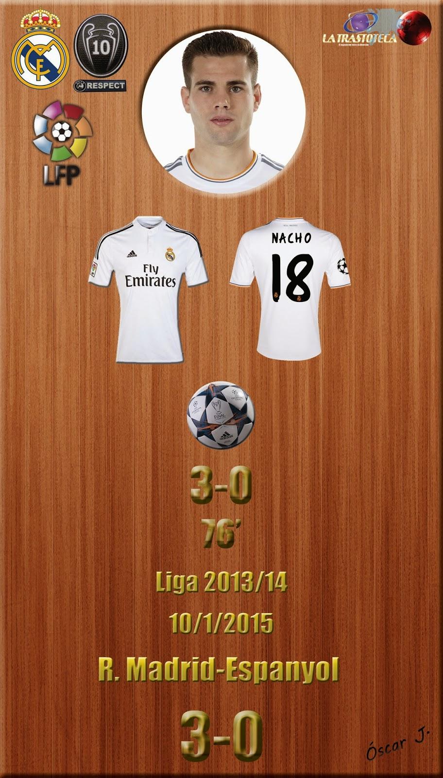 Nacho (3-0) - Real Madrid 3-0 Espanyol - Liga 2014/15 - Jornada 18 - (10/1/2015)