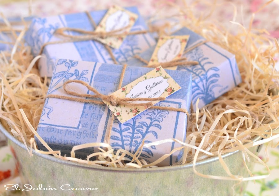 bodas en azul detalles personalizados para invitados
