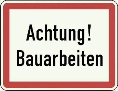 Achtung! Bauarbeiten-Warnschild