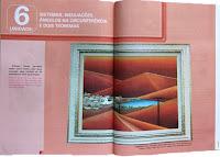 Página do Livro didático sobre linhas paralelas-tela de Elma Carneiro