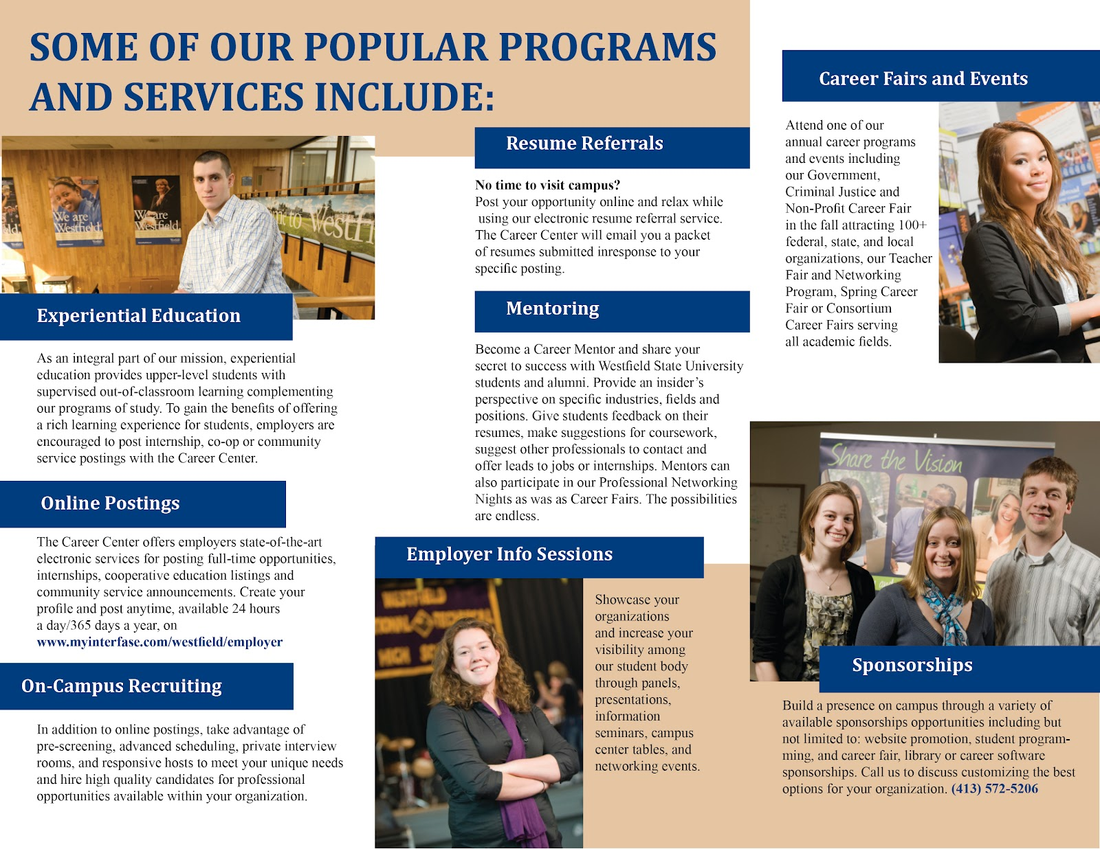 Alycia Designs Wsu Career Center Brochure