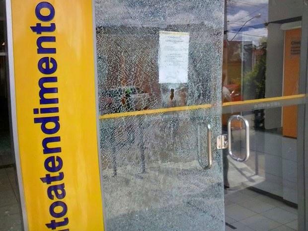 Assalto a banco em Iramaia ocorreu na quinta-feira (Foto: Fabiano dos Santos/Site Binho Locutor)