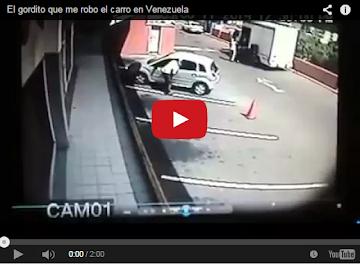 Vean como roban en este carro en Caracas