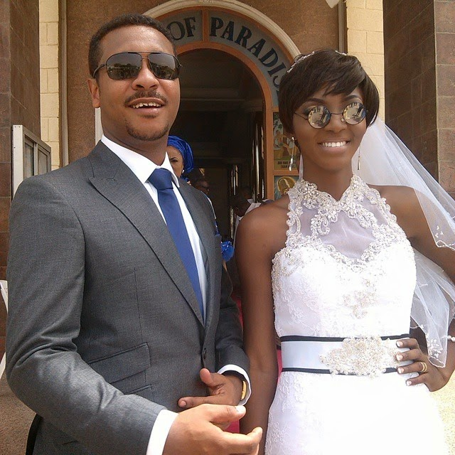 ivie okujaye white wedding photos