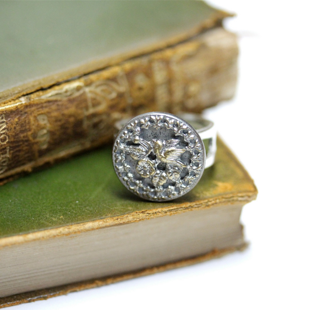 Antique Bird Cocktail Ring #vintage #jewelry