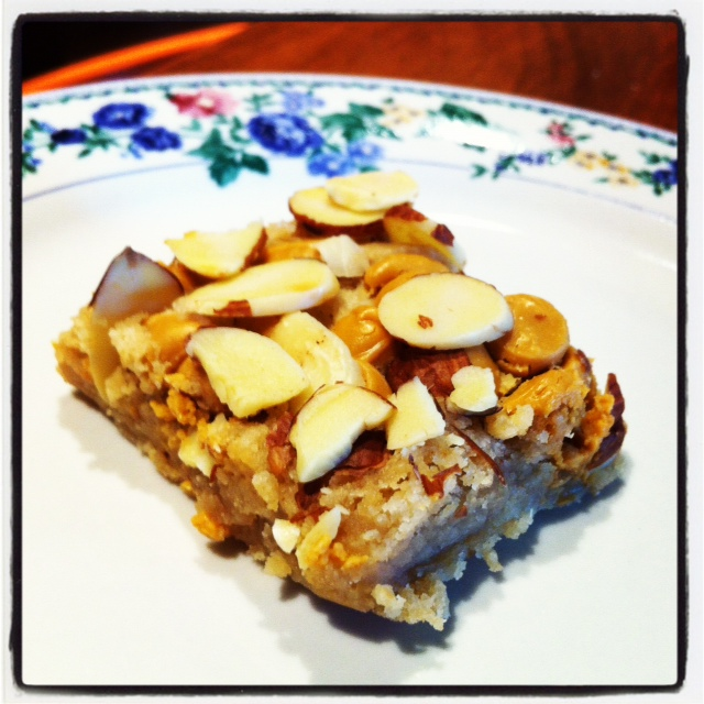 Almond Butterscotch bars
