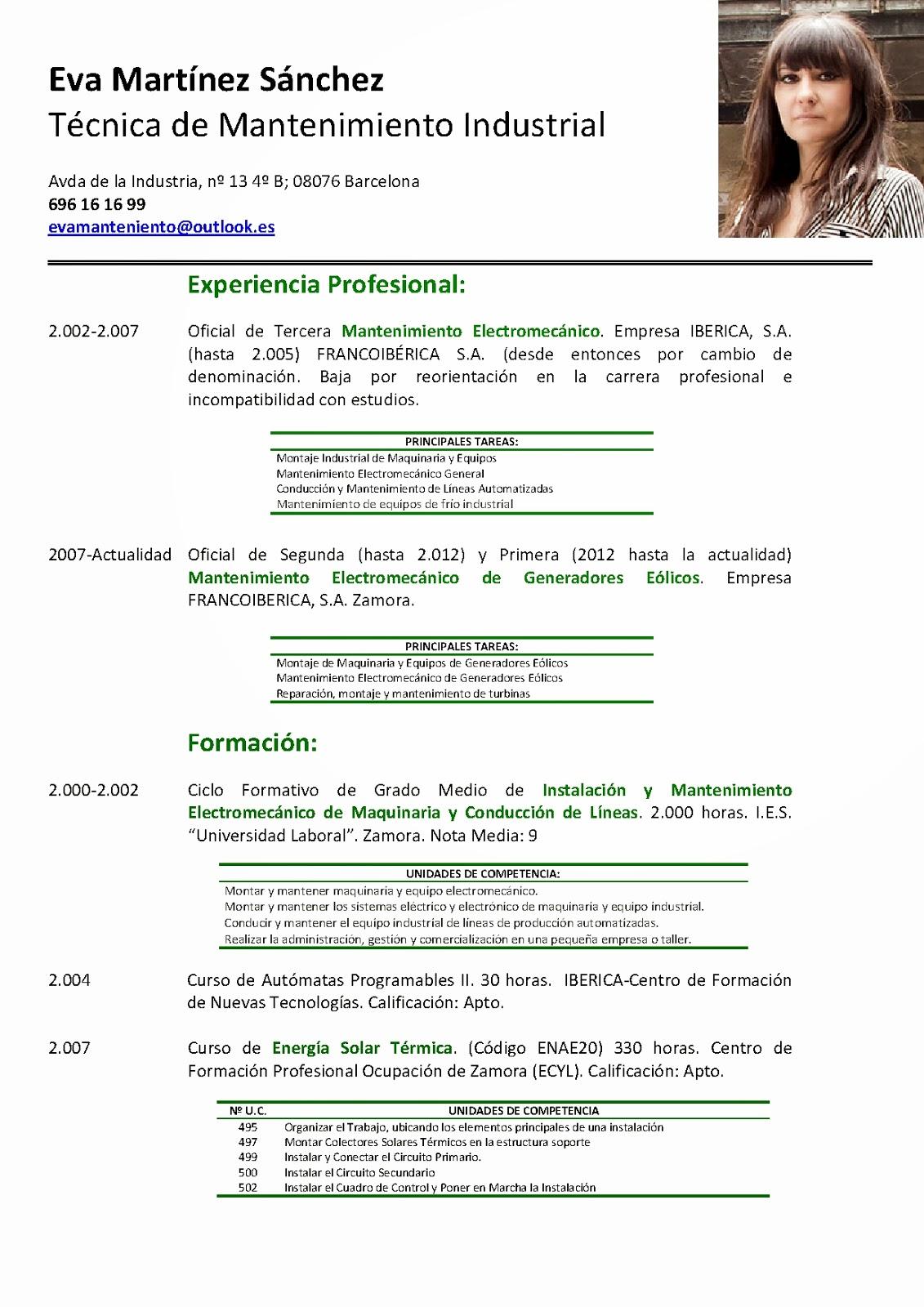 Curriculum vitae basado en el modelo de competencias personales