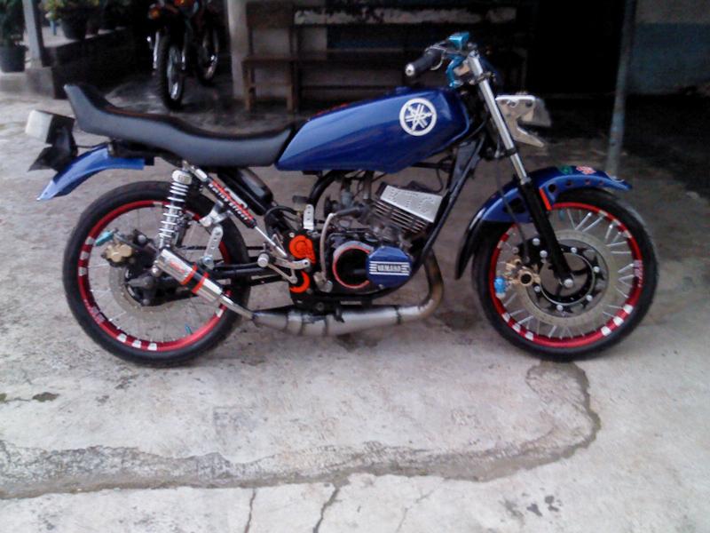 kumpulan modifikasi motor rx king warna biru