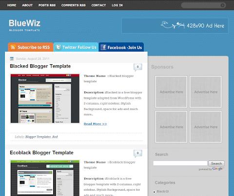 BlueWiz Blogger Theme
