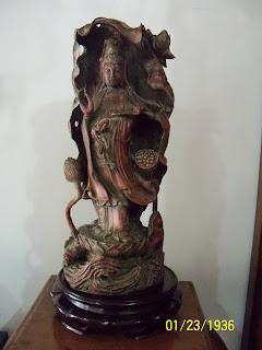 kerajinan kuningan patung dewi kwan im