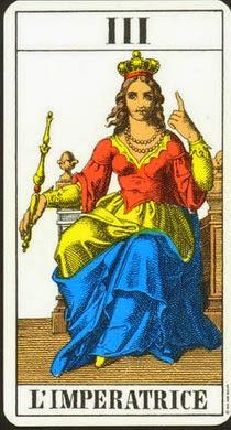 La carta de La Emperatriz en el tarot