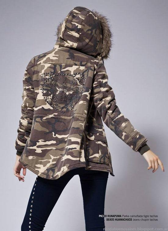 Rie campera militar moda invierno 2013.