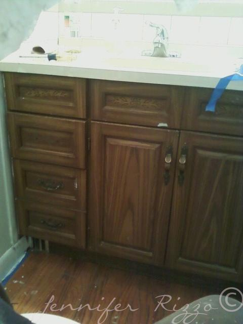 This old vanity painted for a great update.
