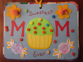 Mother's Day Card, cupcake card, sweetest mom ever