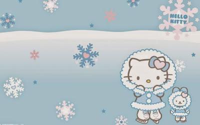 Gambar Wallpaper Hello Kitty Salju HD Lucu