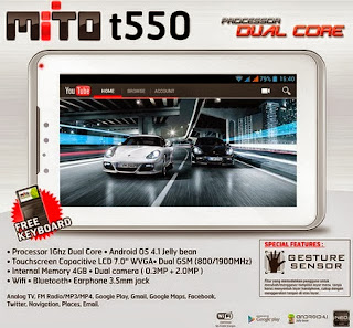 Mito T550 Tablet Android Jelly Bean dual core murah