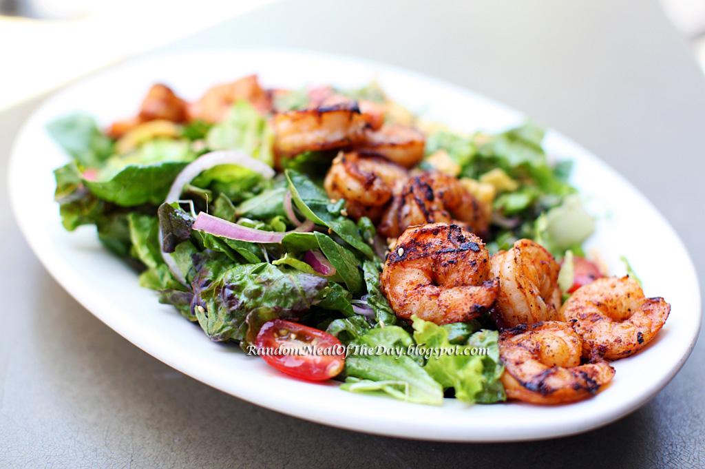 Random meal of the day asian shrimp salad at california for California fish grill