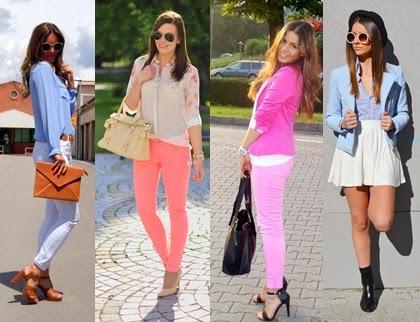 Beeindruckende Pastellfarben in Frühling Kombination
