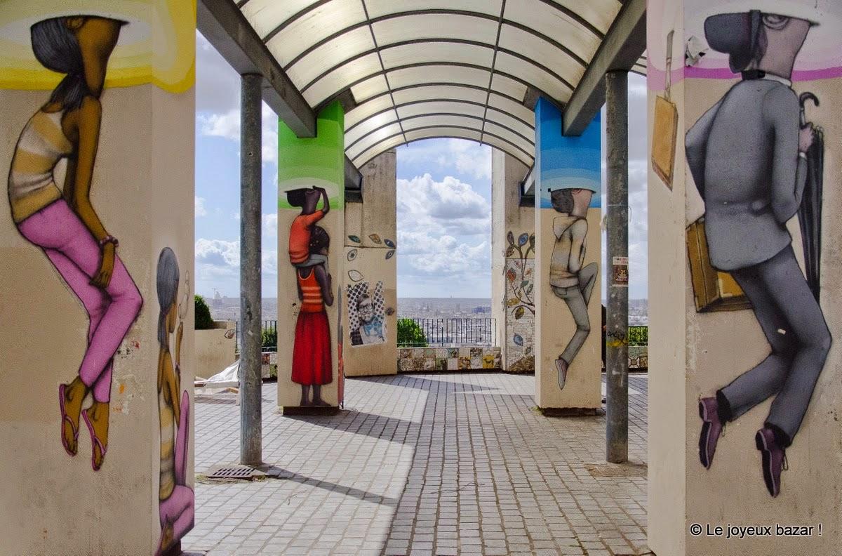 Paris - parc de Belleville - Street art - Seth