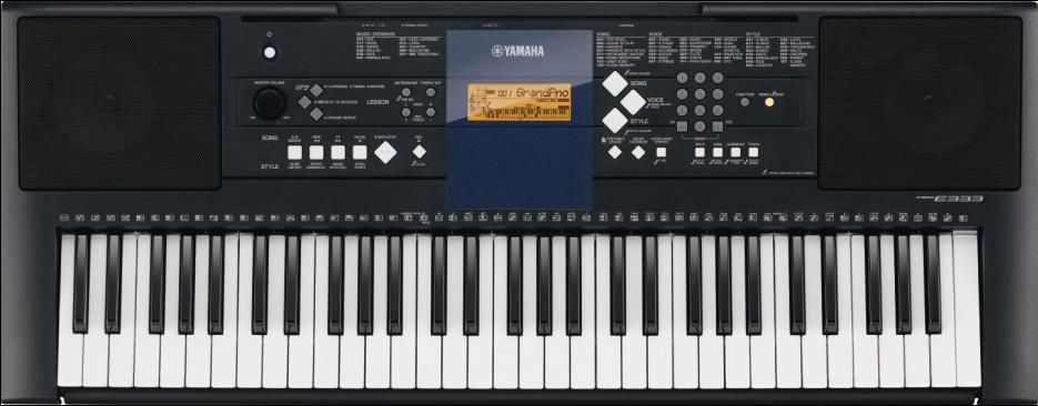 Aprendendo a tocar um teclado Yamaha...