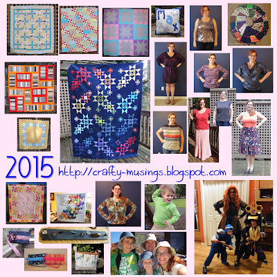 Collage of Crafty Musings 2015 finished projects