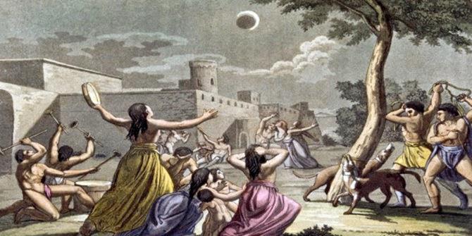 Mitos gerhana bulan di masyarakat dunia