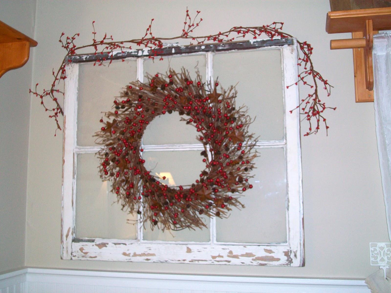 Decorating Ideas > FlyAwayHome Simple Christmas Decor ~ 220626_Christmas Decorating Ideas Using Old Windows