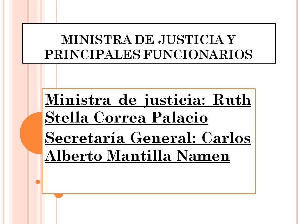 Organigrama del gobierno nacional ministro de justicia for Pagina del ministerio de interior y justicia