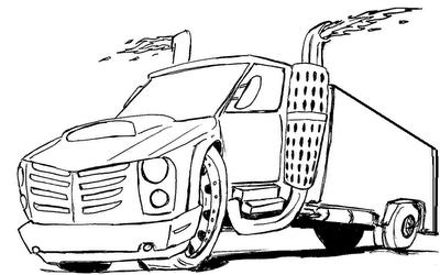 Desenhos Para Colorir Caminhão tunado rabisco de caminhao tunado cavalinho