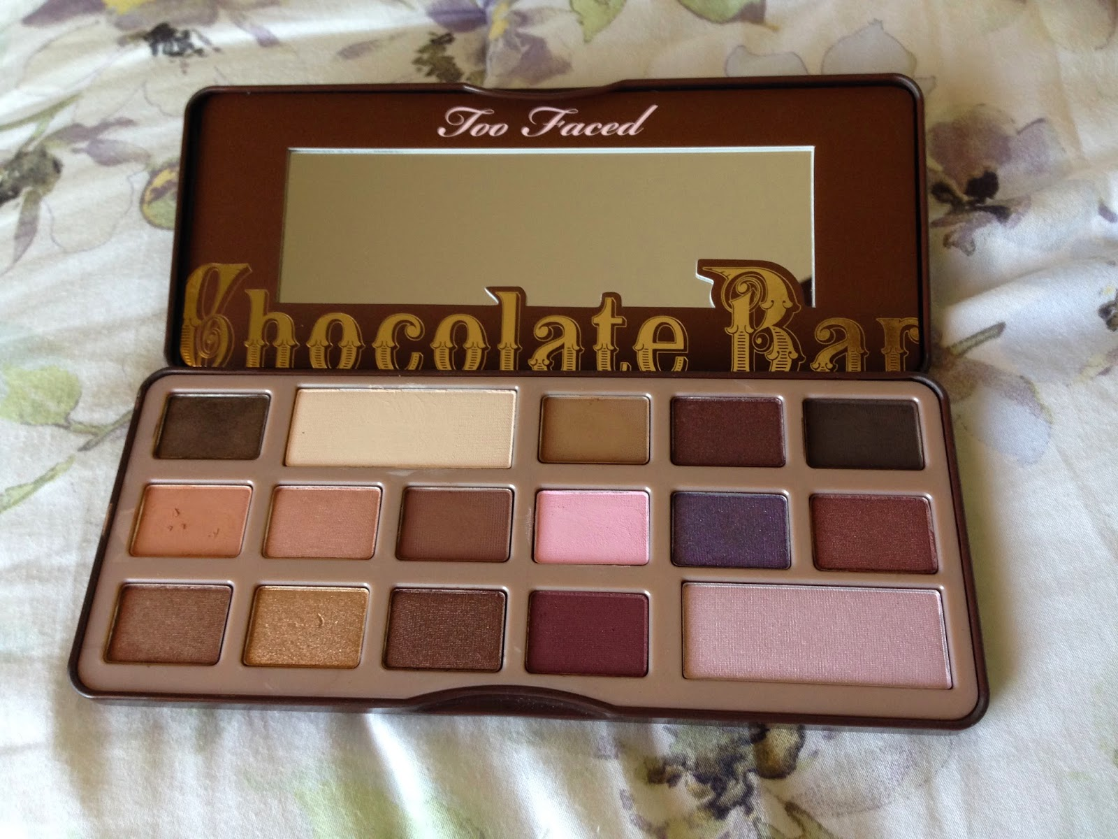 Review: Too Faced Chocolate Bar eyeshadow palette. Bon appetit ...