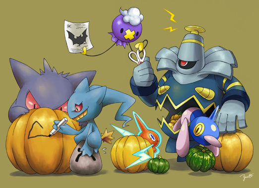 Ghost Type Gym Pokemon-Halloween-Ghost-Party
