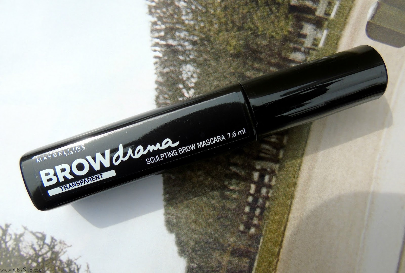 www.absie.co.uk | Maybelline Brow Drama in Transparent | Review