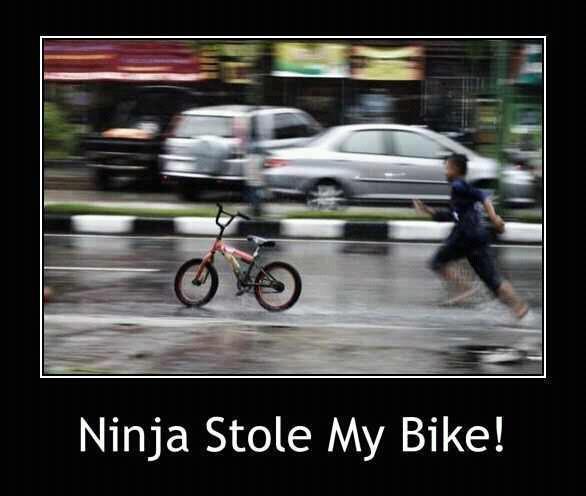 Ninja Stole My Bike