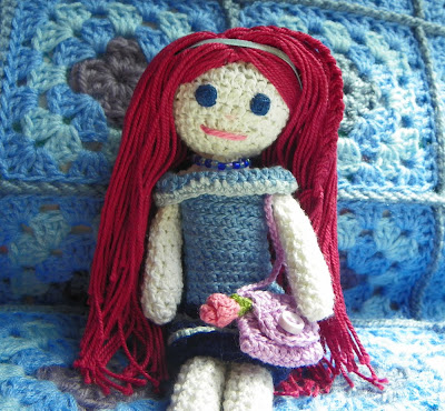 Life in colour: Red haired amigurumi girl Lola