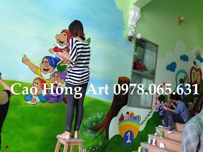 vẽ tranh tường,vẽ tranh tường mầm non,vẽ tranh tường mẫu giáo