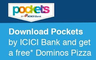 icici pockets app free dominos pizza