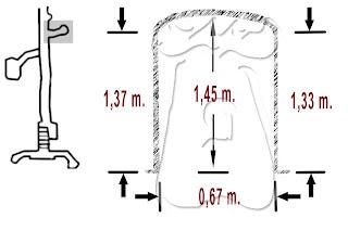 Alzado de la entrada del fondo de saco