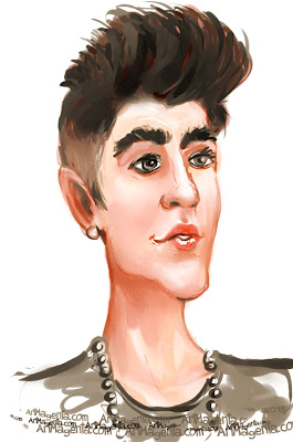 Justin Bieber is a caricature by Artmagenta