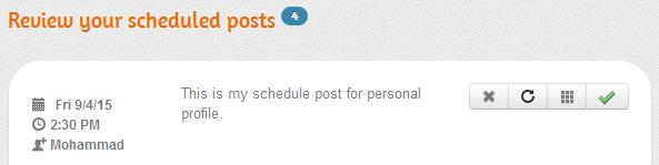 scheduled facebook posts