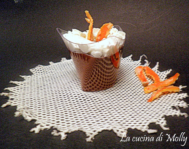 budino di cioccolato fondente al profumo di arancia